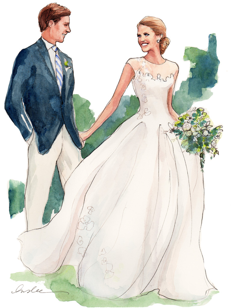 INSLEE HAYNES_WATERCOLOR_BRIDE AND GROOM