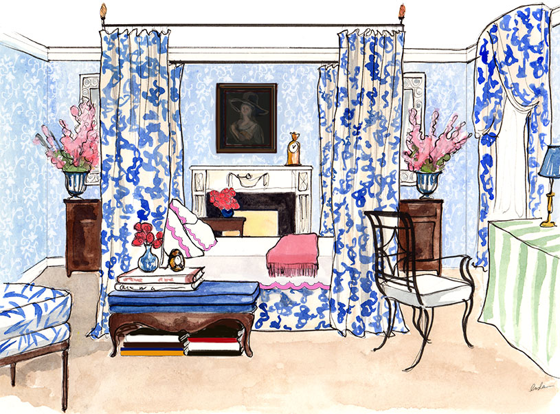 INSLEE HAYNES_WATERCOLOR_INTERIOR DESIGN