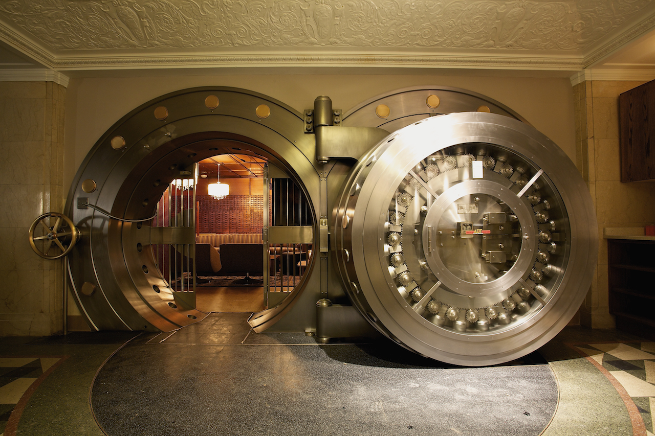 The vault door at the bedford work that skirt a blog for Building a panic room inside your house